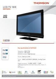 LCD TV 16/9 - Euronics