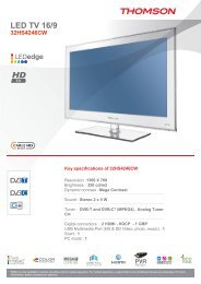 LED TV 16/9 - Euronics