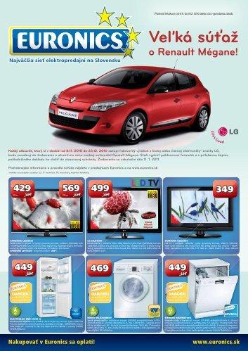 Veľká súťaž o Renault Mégane! - Euronics