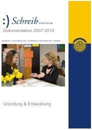 Dokumentation 3 Jahre Schreibzentrum - European University ...