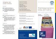 Trainingsprogramm WiSe 2011/2012