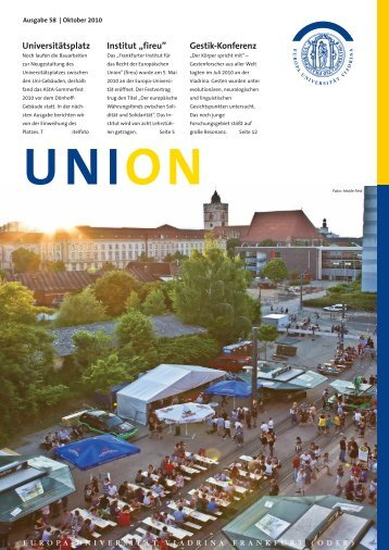 Uni on 58 - European University Viadrina Frankfurt (Oder)