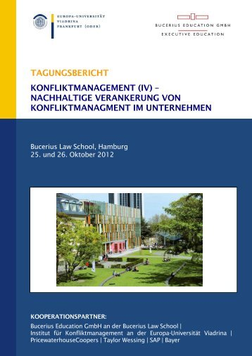 TAGUNGSBERICHT KONFLIKTMANAGEMENT (IV ...