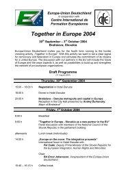 Draft Programme - Europa-Union Deutschland e.V.