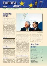 Ausgabe 1-2004 - Europa-Union Deutschland e.V.