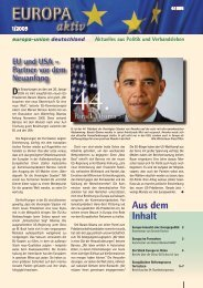 Ausgabe 1-2009 - Europa-Union Deutschland e.V.