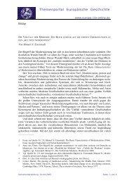 DIE VIELFALT DER MODERNE - Themenportal Europäische ...