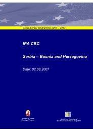 CBC IPA 2007- 2013 Serbie - Bosnia and Herzegovina pdf