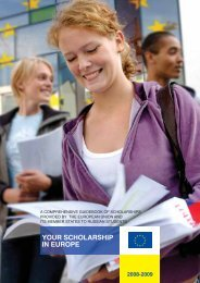 YOUR SCHOLARSHIP IN EUROPE