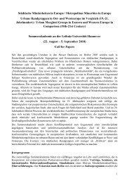 Sommerakademie – Call for papers - Leibniz Universität Hannover