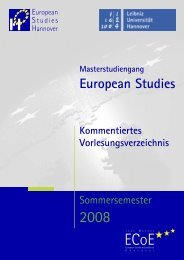 Kommentierte Vorlesungsverzeichnis - European Studies