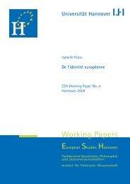 Working Papers - European Studies