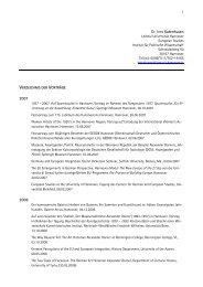 Curriculum Vitae - European Studies - Leibniz Universität Hannover