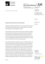 European Studies Hannover gehen in die nächste Runde Der ...