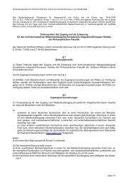 Zulassungsordnung vom 30.01.2008 - European Studies - Leibniz ...