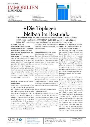 Immobilien Business von 09.02.2013, 1089 KB - Europaallee