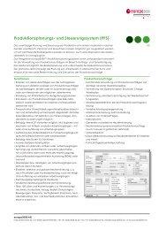 Produktionsplanungs- und Steuerungssystem (PPS) - europa3000 AG