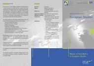 Master of Arts (M.A.) in European Studies