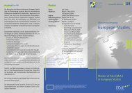 Master of Arts (MA) - European Studies - Leibniz Universität Hannover
