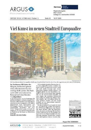 Tages-Anzeiger von 16.07.2009, 415 KB - Europaallee