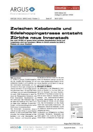 Immo Invest von 09.01.2010, 447 KB - Europaallee