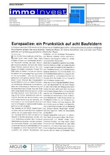 Immo Invest von 05.02.2011, 428 KB - Europaallee