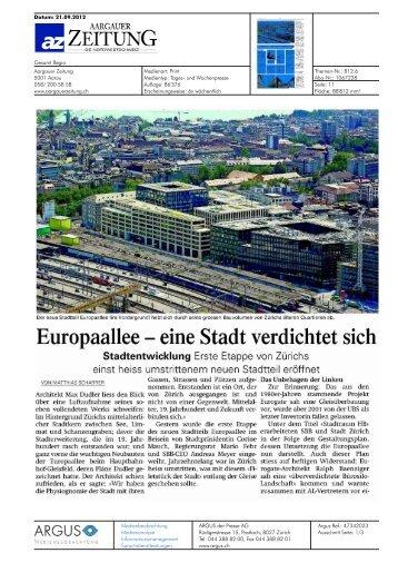 Aargauer Zeitung von 21.09.12, 3466 KB - Europaallee