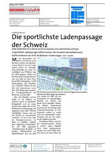 Schweizer Sport & Mode von 07.11.12, 6422 KB - Europaallee