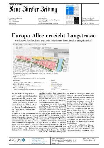 NZZ von 20.08.2010, 500 KB - Europaallee