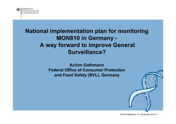 National implementation plan for monitoring MON810 in ... - Europabio