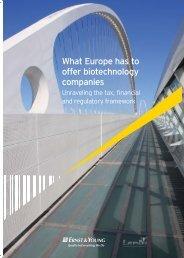 What Europe has to offer biotechnology companies - BIO Deutschland