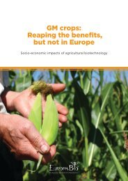 GM crops: Reaping the benefits, but not in Europe - Europabio