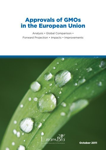 Approvals of GMOs in the European Union - UNED