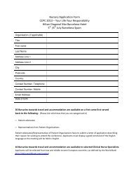 Download the Bursary Form by Clicking Here - EuropaColon