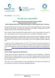 Press Release 17th June 2013 The 2nd European ... - EuropaColon