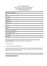 Bursary Application Form CCPC 2013 ? Your Life ... - EuropaColon