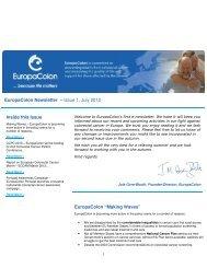 EuropaColon Newsletter: July 2012