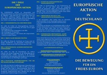 Flugblatt allgemein - Deutsche Version Die Europäische Aktion