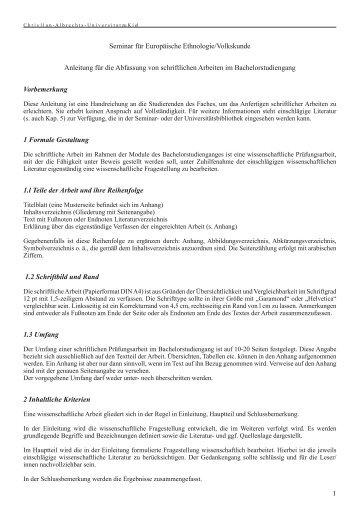 Anleitung für die Abfassung von Seminararbeiten - Seminar für ...