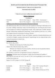 Kommentiertes Vorlesungsverzeichnis Sommersemester 2013