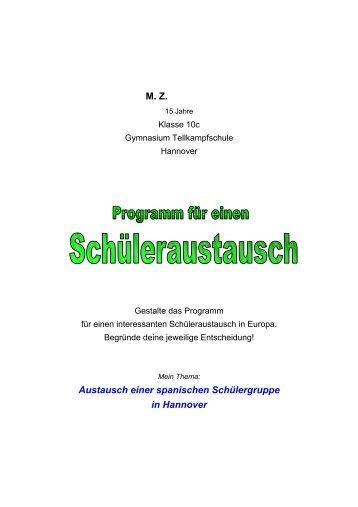 Austauschprogramm für die spanischen Schüler in Hannover