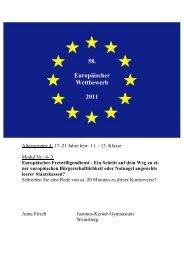 58. Europäischer Wettbewerb 2011