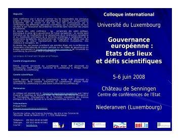 Colloque international - Europaforum Luxembourg