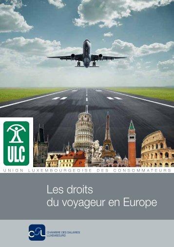 """La brochure """"Les droits du voyageur en Europe"""" - CSL"""