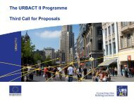 The URBACT II Programme Third Call for Proposals
