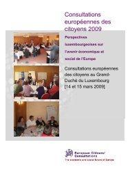 Le rapport final de l'ECC 2009 - Europaforum Luxembourg