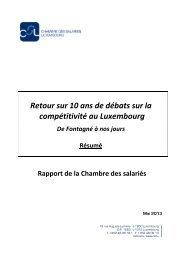 Retour sur 10 ans de débats sur la compétitivité au Luxembourg - CSL