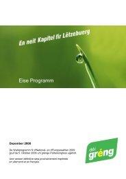 Wahlprogramm 2009 - Europaforum Luxembourg