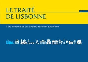 le traité de Lisbonne - Europaforum Luxembourg