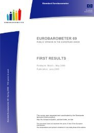EUROBAROMETER 69 FIRST RESULTS - European Commission - Europa